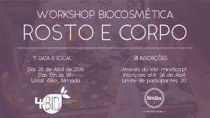 Workshop de Biocosmética - Cuidados de Rosto e Corpo