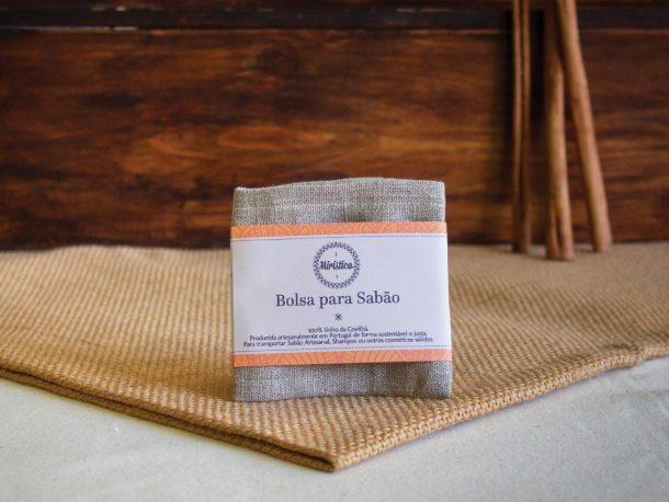 Bolsa para Sabão em Linho