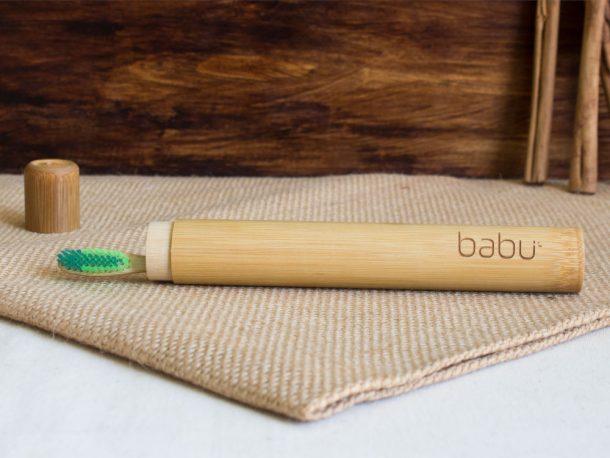 Caixa de Viagem Babu para Escovas de Dentes em Bambu