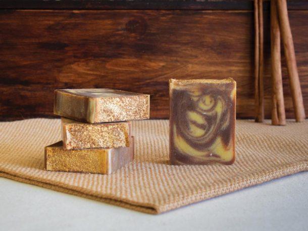 Sabão Artesanal de Abóbora, Limão e Gengibre