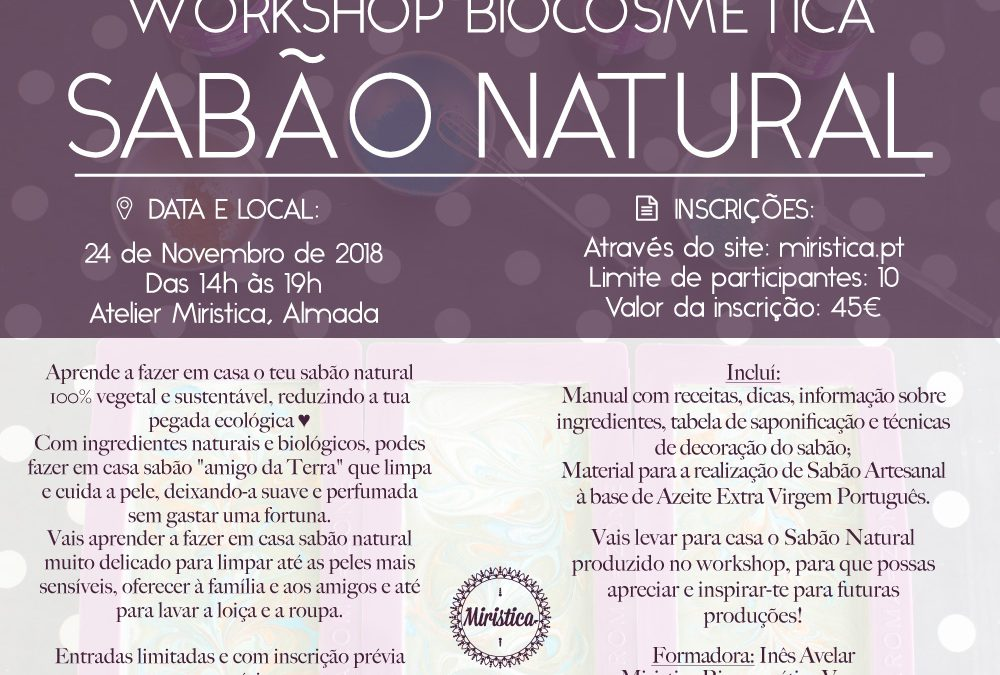Workshop de Biocosmética: Sabão Natural