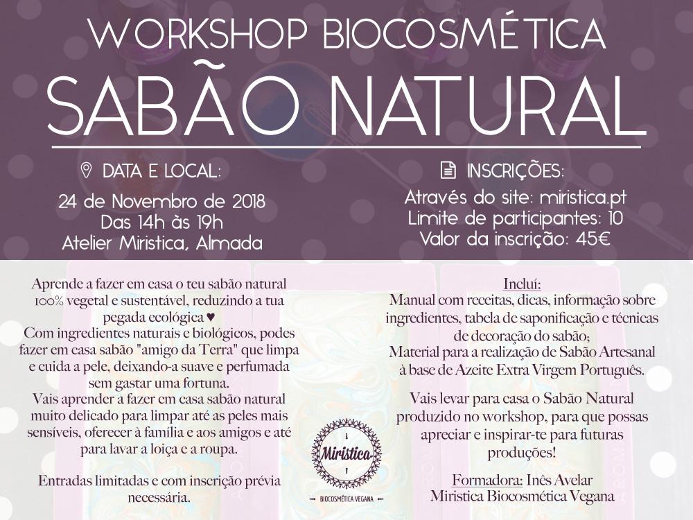 Workshop de Biocosmética Sabão Natural Vegan